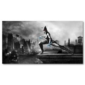 Αφίσα (γάτα, γυναίκα, πόλη)